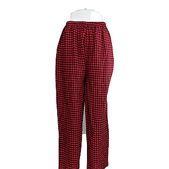 North Style Women's Pajama Pants Light Flannel Black/ Red