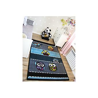 Rug KIDS Owls  grey C426