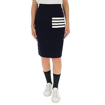 Thom Browne Fkk061a00014415 Women's Black Wool Skirt