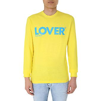 Dsquared2 S71gd0907s22507174 Men's Yellow Cotton Sweater