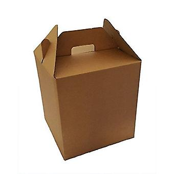"Brown 10"" Cubed Cardboard Gable Style Carry Storage Gift Box 10 Pack 254mm x 254mm x 254mm"