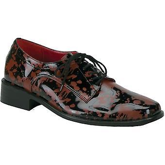 靴ブラッドスプラッター Bk Rd Xl