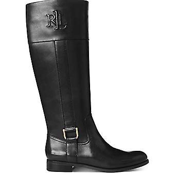 Lauren by Ralph Lauren Womens Bernadine Leather Round Toe Knee, Black, Size 7...