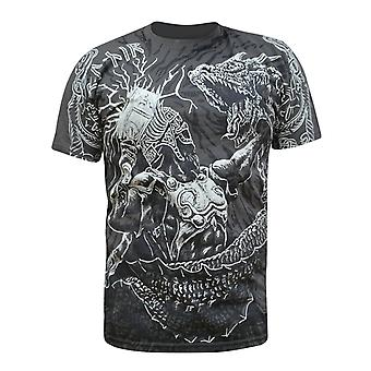 Aquila-Viking draak Slayer-mens Dark grey t-shirt