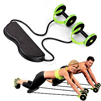 Spieroefening Double Wheel Ab Roller Trainer Home Fitness Equipment