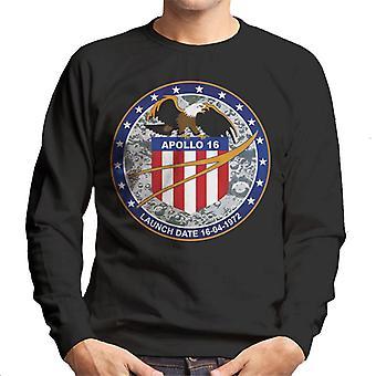 NASA Apollo 16 Mission Abzeichen Herren Sweatshirt