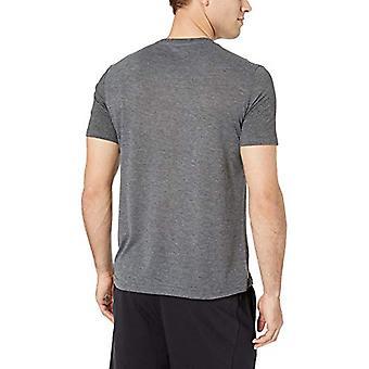 Essentials Men's Performance Cotton Short-Sleeve T-Shirt, Charcoal Gre...
