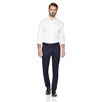 BOTONADO ABAJO Hombres's Slim Fit Stretch No Hierro Vestido Chino Pantalón, Marino, 29W x 34L