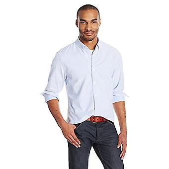 Goodthreads Men-apos;s Standard-Fit Long-Sleeve Stripe Oxford Shirt, Bleu/Blanc, X...