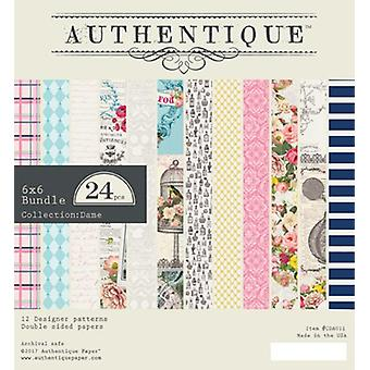 Authentique Dame 6x6 pulgadas De papel Pad