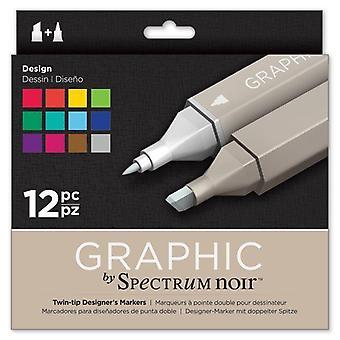 Spectrum Noir Spectrum Noir Graphic Design (12pc) (SPECN-GR12-DES)