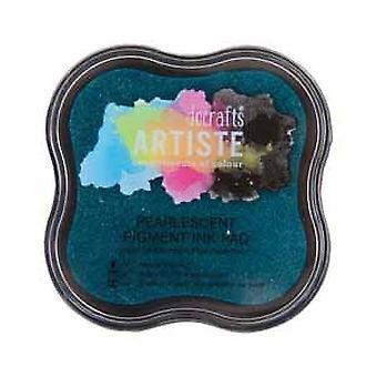 Docrafts Pearlescent Pigment Ink Pad - Aqua