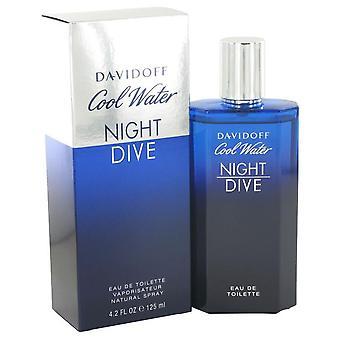 Inmersión nocturna de agua fría eau de toilette spray por davidoff 512053 125 ml