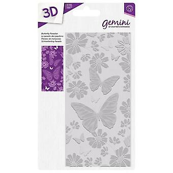 Gemini Butterfly Paradise 3D Embossing Folder