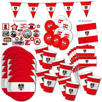 Austria Party Set XL 117-stuk voor 10 gasten Party Austriaparty Alpen Austria Birthday Decoration Party Pakket