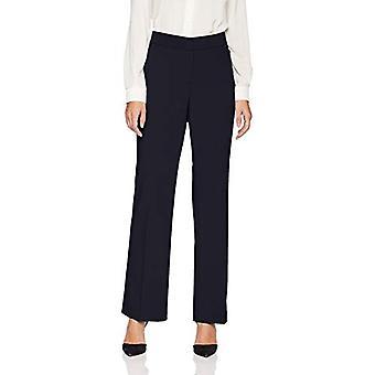 Brand - Lark & Ro Women's Bootcut Trouser Pant: Curvy Fit, Navy, 4S