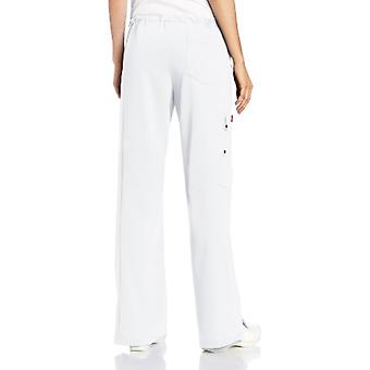Dickies Women's Xtreme Stretch Fit Drawstring Flare Leg Pant, White X-Large