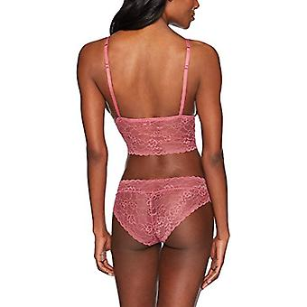 Brand - Mae Women's  Lace Bralette and Panty Set, Rosy Pink, M
