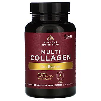 Dr. Axe / Ancient Nutrition, Multi Collagen, Gut Restore, 90 Capsules