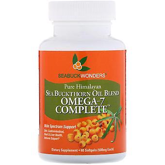 SeaBuckWonders, Omega-7 Complete, Sea Buckthorn Oil Blend, 500 mg, 60 Softgels