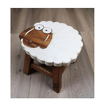 Kids Wooden Stool Long Ear Sheep