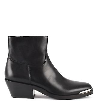 Ash GINNY Ankle Boots Black Leather