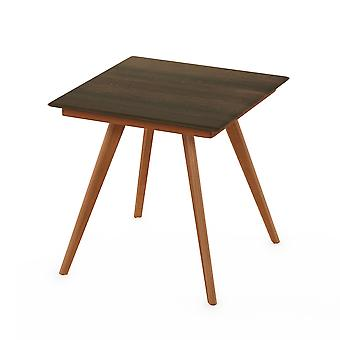 Furinno Redang Outdoor 4-Leg Square Smart Top Table, Walnut
