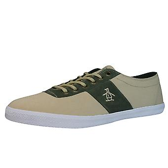 Penguin Jack Mens Trainers / Shoes -  Beige