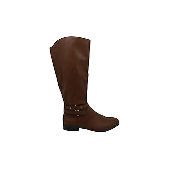 Stijl & Co. Womens Kindell lederen gesloten teen mid-kalf rijden laarzen