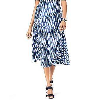 JM Collection   Printed Jacquard A-Line Skirt