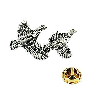 Ties Planet Partridge Uccello Inglese Pewter Lapel Pin Badge