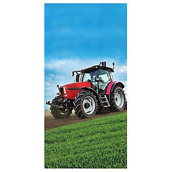 Red Tractor Beach Towel