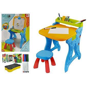 Dětský herní stůl - se značkami a stolicí