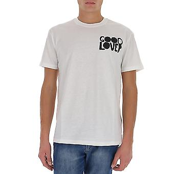Valentino Uv0mg10v6wma01 Mænd's White Cotton T-shirt