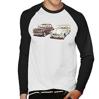 Morris Minor Classic British Motor Heritage Men's Baseball Long Sleeved T-Shirt