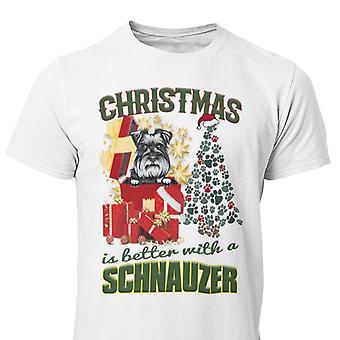 T-shirt per cani di Natale Schnauzer