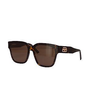 Balenciaga BB0056S 002 Havana/Brown Sunglasses