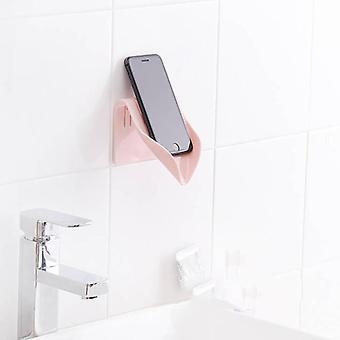 طبق الحمام منظم تخزين صندوق علبة بلاستيكية، جدار محمولة على لكمة الحرة