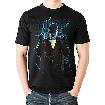 Shazam Unisex Adults Heroic Text Print T-Shirt