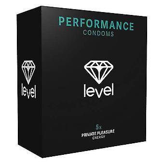 Level performance condoms 5 pack