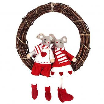 Gisela Graham Mice Twig Wreath