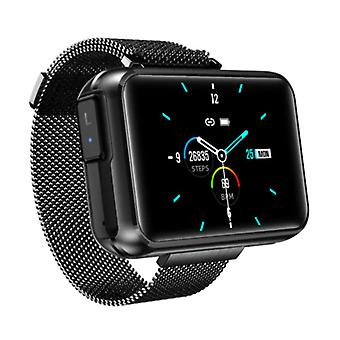 Lemfo T91 Smartwatch Wide Display with Wireless Earpieces - 1.4 Inch Screen - Smartband Fitness Tracker Sport Activity Watch iOS Android Black
