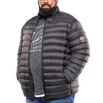 Duke D555 Mens Big Tall King Storlek Paxton Varm Vinter Puffer Coat Jacket - Svart