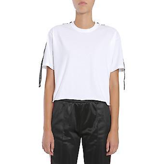 Forte Couture Fcfw173035whtblk Women's White Cotton T-shirt