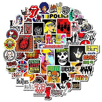 Rock And Roll Punk Music Band Stickers,