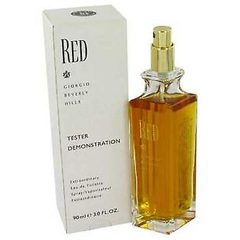 Red By Giorgio Beverly Hills Eau De Toilette Spray (tester) 3 Oz (mujeres) V728-446023