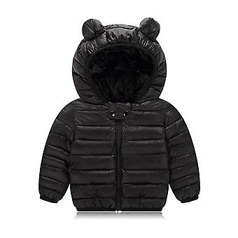 Neugeborene Baby Kleidung Down Cotton Black Hooded Winter Mantel Kleidung Mode