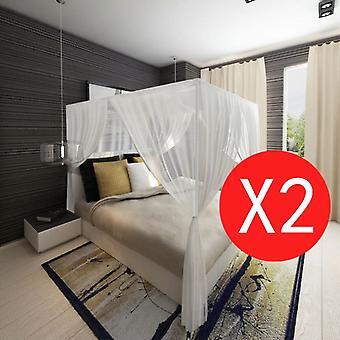 モスキートネットベッド2ピーススクエアセット3開口部