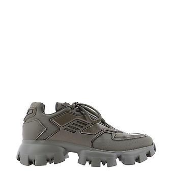Prada 2eg2933kzuf0417 Men's Grey Nylon Sneakers
