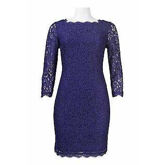 שמלת נדן תחרה רוכסן גב שרוול ארוך